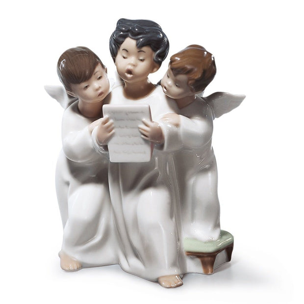 Lladro Porcelain Angels' Group Figurine Figurines Lladro