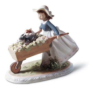 Lladro Porcelain A Barrow Of Fun Figurine Figurines Lladro