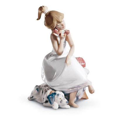 Lladro Porcelain Chit Chat Figurine Figurines Lladro
