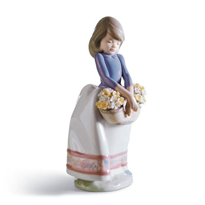 Lladro Porcelain May Flowers Figurine Figurines Lladro