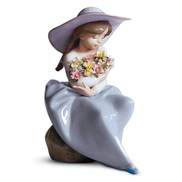 Lladro Porcelain Fragrant Bouquet Figurine Figurines Lladro