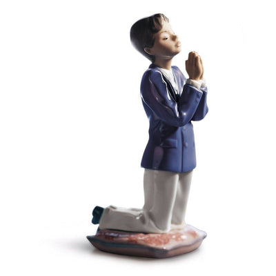 Lladro Porcelain Communion Prayer Figurine Boy Figurines Lladro
