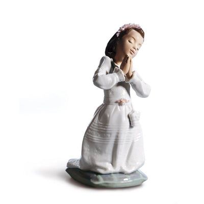 Lladro Porcelain Communion Prayer Figurine Girl Figurines Lladro