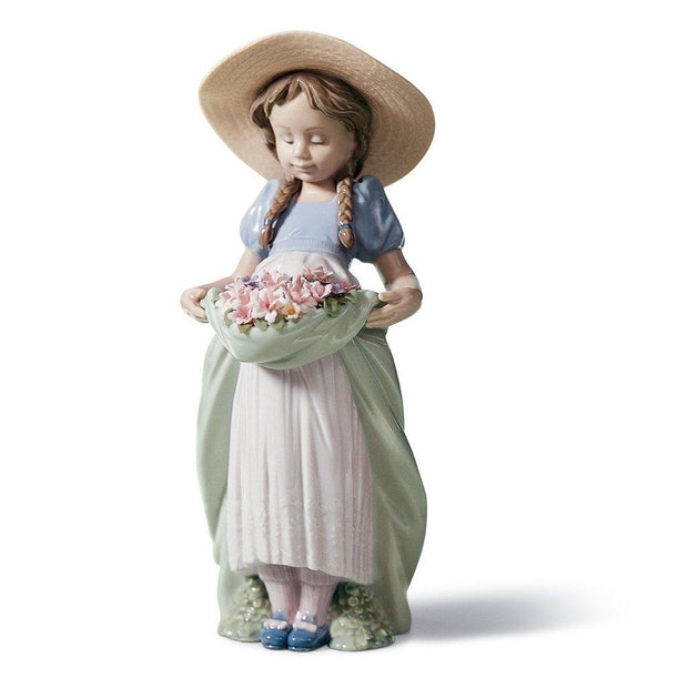 Lladro Porcelain Bountiful Blossoms Figurine Figurines Lladro
