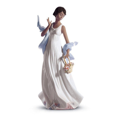 Lladro Porcelain Winds Of Romance Figurine Black Legacy Figurines Lladro
