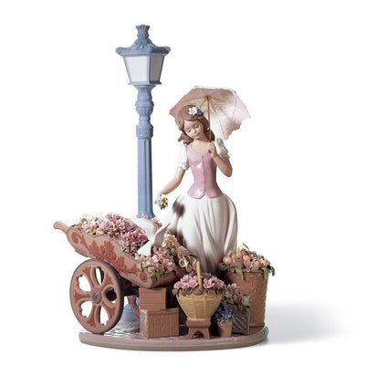 Lladro Porcelain Flowers For Everyone Figurine Figurines Lladro
