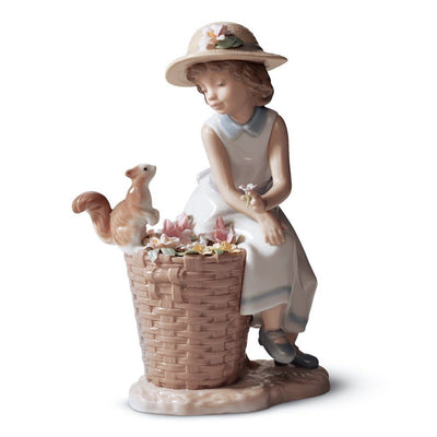 Lladro Porcelain Hello, Little Squirrel! Figurine Figurines Lladro