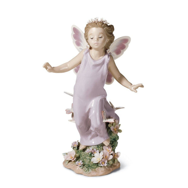 Lladro Porcelain Butterfly Wings Figurine Figurines Lladro