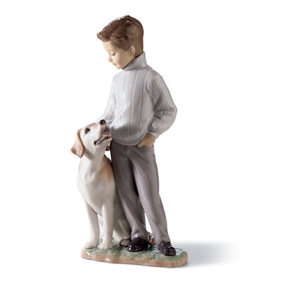 Lladro Porcelain My Loyal Friend Figurine Figurines Lladro