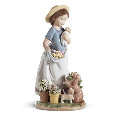 Lladro Porcelain A Romp In The Garden Figurine Figurines Lladro