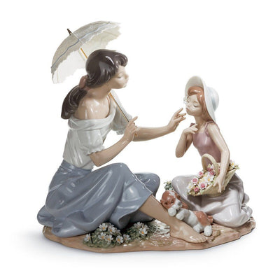 Lladro Porcelain As Pretty As A Flower Figurine Figurines Lladro