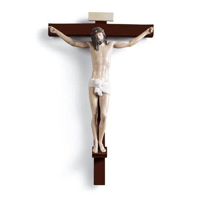 Lladro Porcelain Our Saviour Cross Wall Art Wall Art Lladro