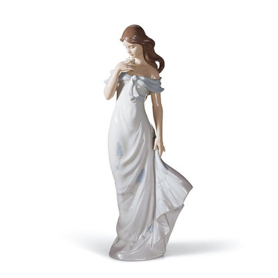 Lladro Porcelain A Flower's Whisper Figurine Figurines Lladro