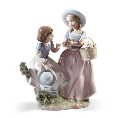 Lladro Porcelain Girlfriends Figurine Figurines Lladro