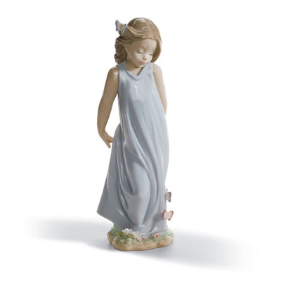 Lladro Porcelain Friend Of The Butterflies Figurine Figurines Lladro