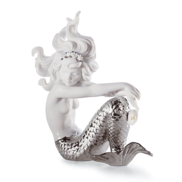 Lladro Porcelain Illusion Mermaid Figurine Silver Lustre Figurines Lladro
