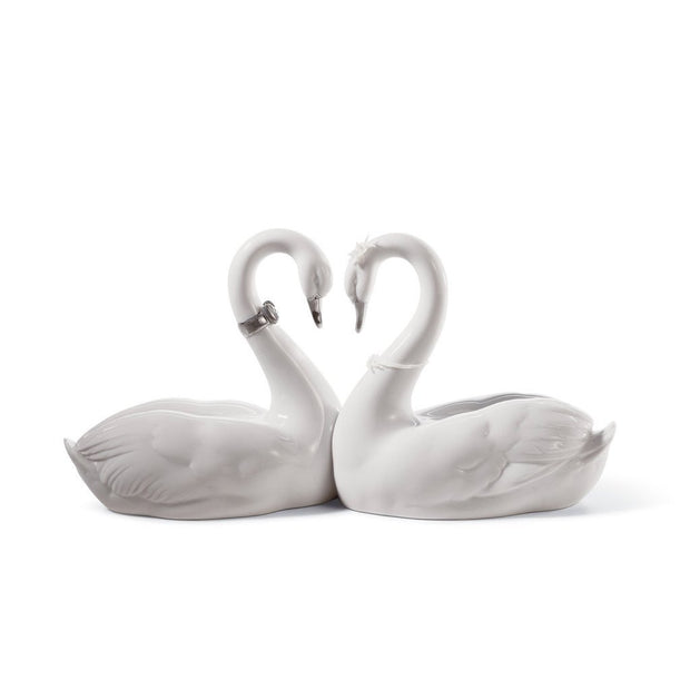 Lladro Porcelain Endless Love Figurine Silver Luster Figurines Lladro