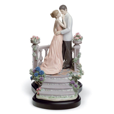 Lladro Porcelain Moonlight Love Figurine LE 2500 Figurines Lladro