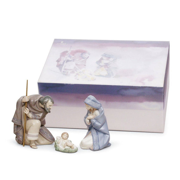 Lladro Porcelain Silent Night Nativity Set Figurines Lladro