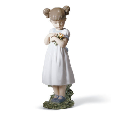 Lladro Porcelain Flowers For Mommy Figurine Figurines Lladro
