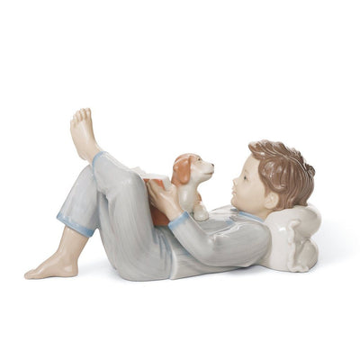 Lladro Porcelain Shall I Read You A Story? Figurine Figurines Lladro