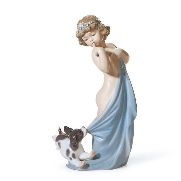 Lladro Porcelain Naughty Puppy Figurine Figurines Lladro