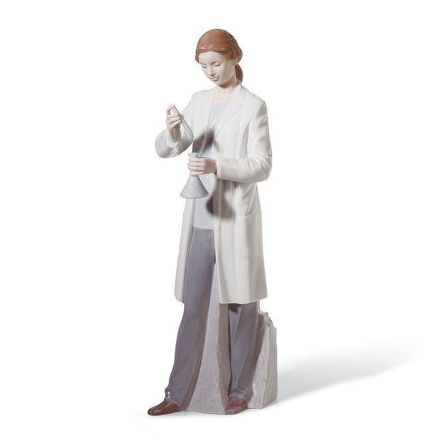 Lladro Porcelain In The Laboratory Figurine Figurines Lladro