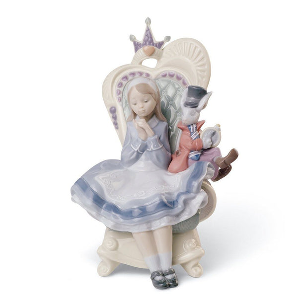 Lladro Porcelain Alice In Wonderland Figurine Figurines Lladro