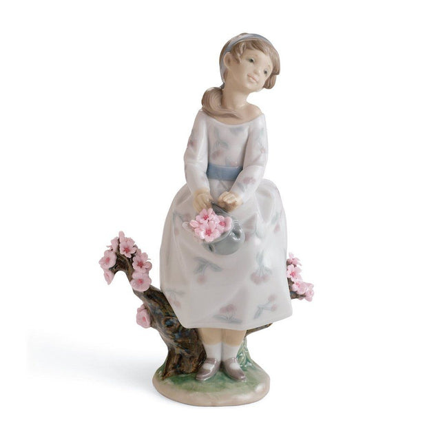 Lladro Porcelain A Walk Through Blossoms Figurine Figurines Lladro