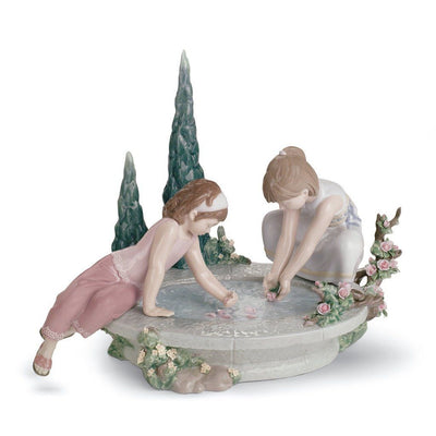 Lladro Porcelain Petals In The Pond Figurine Figurines Lladro