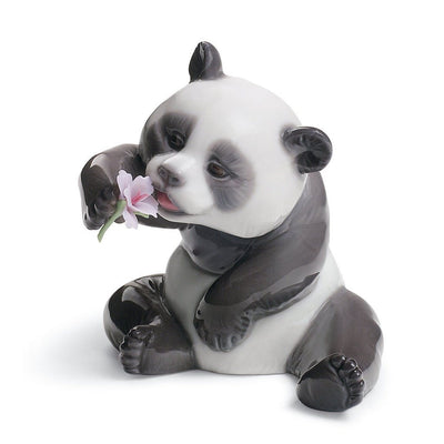 Lladro Porcelain A Cheerful Panda Figurine Figurines Lladro