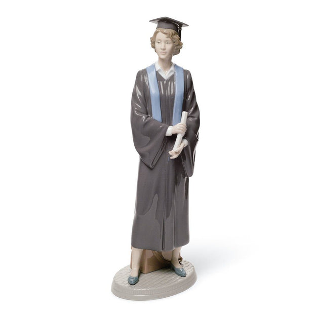 Lladro Porcelain Her Commencement Figurine Figurines Lladro