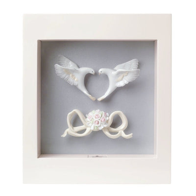 Lladro Porcelain Romantic Doves Wall Art Wall Art Lladro
