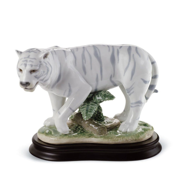 Lladro Porcelain The Tiger Figurine Figurines Lladro