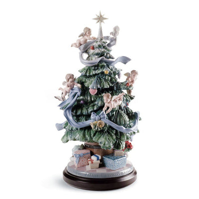 Lladro Porcelain Great Christmas Tree Figurine LE 2000 Figurines Lladro