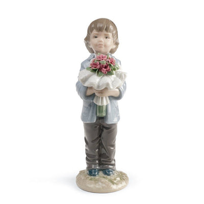 Lladro Porcelain You Deserve The Best Figurine Boy Figurines Lladro