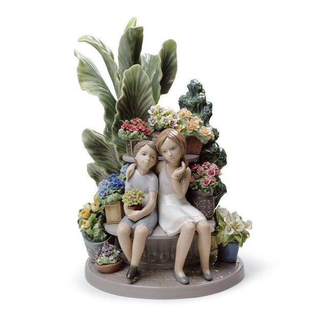 Lladro Porcelain Secrets In The Park Figurine LE 3000 Figurines Lladro