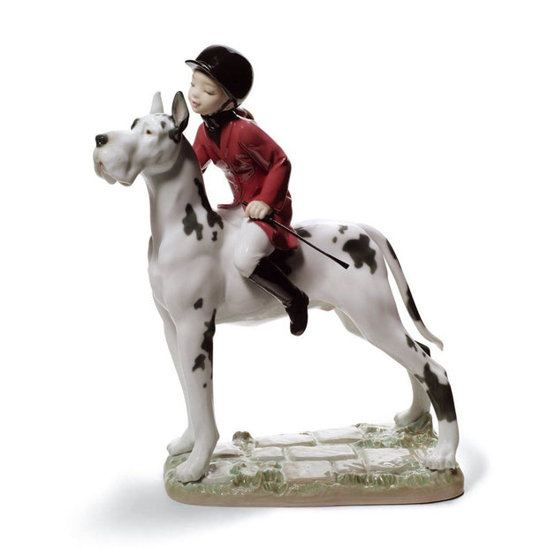 Lladro Porcelain Giddy Up Doggy Figurine Figurines Lladro