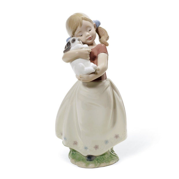 Lladro Porcelain My Sweet Little Puppy Figurine Figurines Lladro