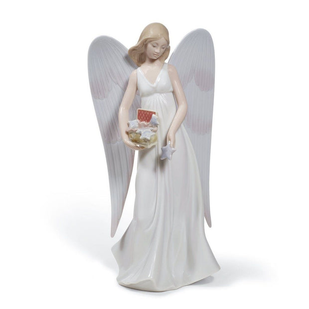 Lladro Porcelain Angelic Stars Tree Topper Figurines Lladro