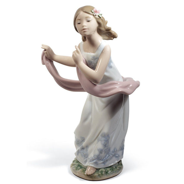 Lladro Porcelain Pleasant Breeze Figurine Figurines Lladro