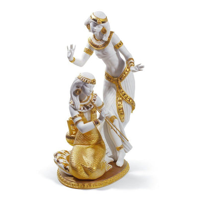 Lladro Porcelain Dancers From The Nile Figurine Golden Re Deco LE 500 Figurines Lladro