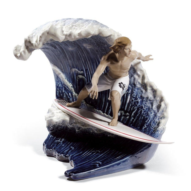 Lladro Porcelain Riding The Big One! Figurine LE 2000 Figurines Lladro