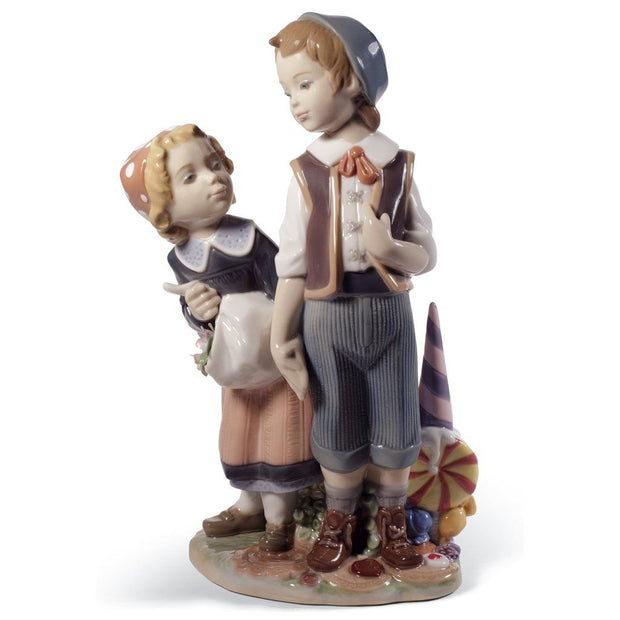 Lladro Porcelain Hansel And Gretel Figurine Figurines Lladro
