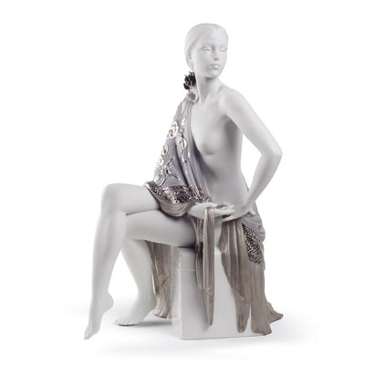 Lladro Porcelain Nude With Shawl Figurine Re Deco Figurines Lladro