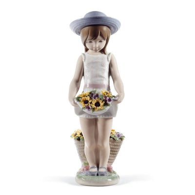 Lladro Porcelain Skirt Full Of Flowers Figurine 60th Anniversary Figurines Lladro