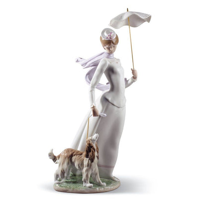 Lladro Porcelain Lady With Shawl Figurine Figurines Lladro