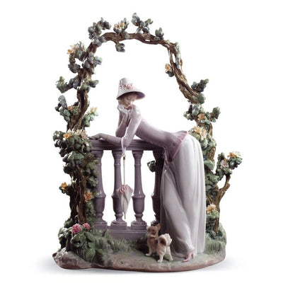 Lladro Porcelain In The Balustrade Figurine Figurines Lladro