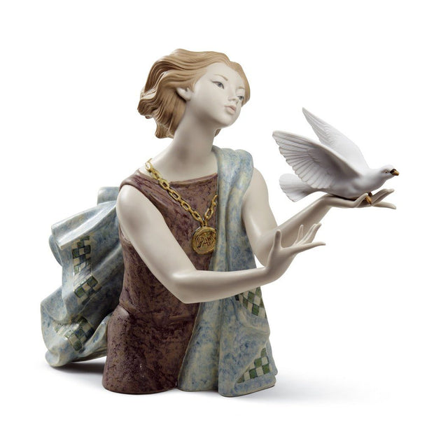 Lladro Porcelain Allegory To The Peace Figurine 60th Anniversary LE 600 Figurines Lladro