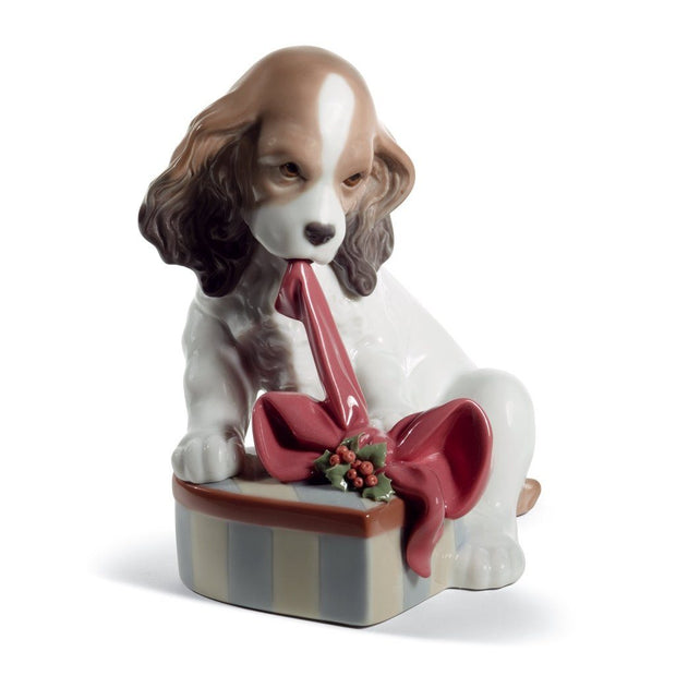 Lladro Porcelain Can't Wait! Figurine Christmas Figurines Lladro